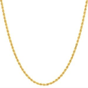 Kay Jewelers 18k Gold Rope Chain Necklace 2.5mm